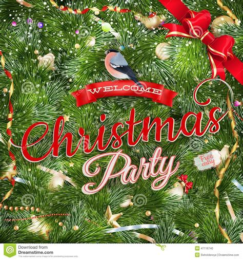 layout for christmas party christmas party poster design template eps 10 stock