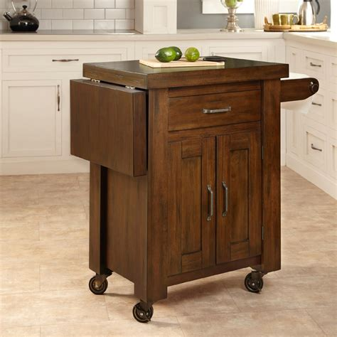 Kitchen Cart by Home Styles Cabin Creek Kitchen Island With Breakfast Bar