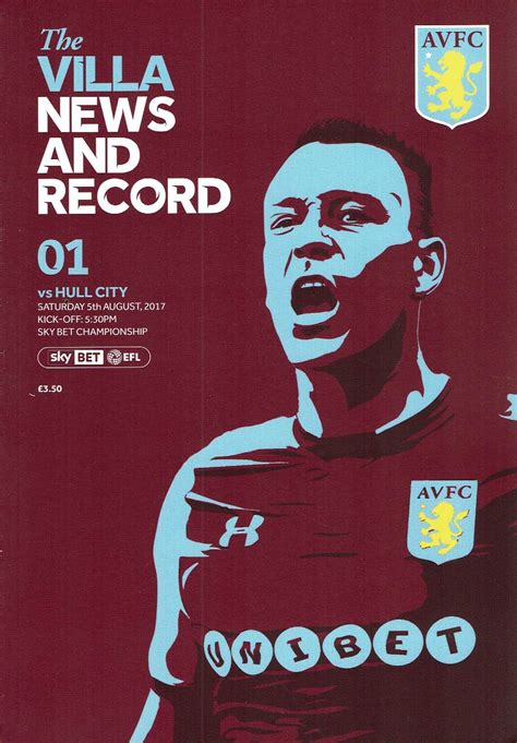 aston villa quiz book 2017 18 edition books aston villa v hull city official chionship programme 17