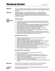 Best Resume Marketing by Kimberlykeeler Marketing Resume 2012