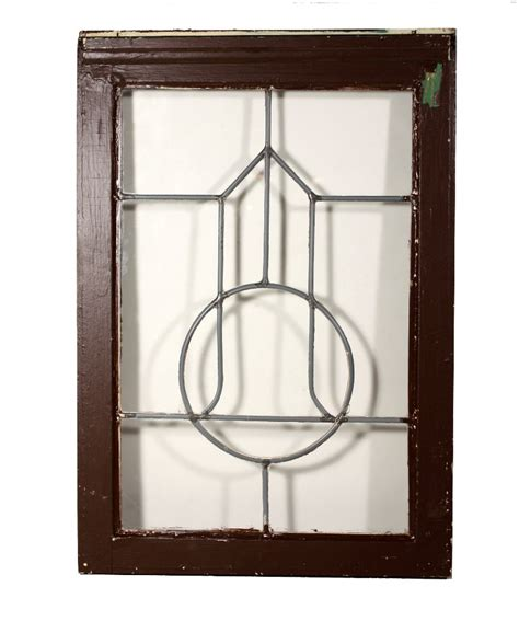 classic antique arts crafts american leaded glass window