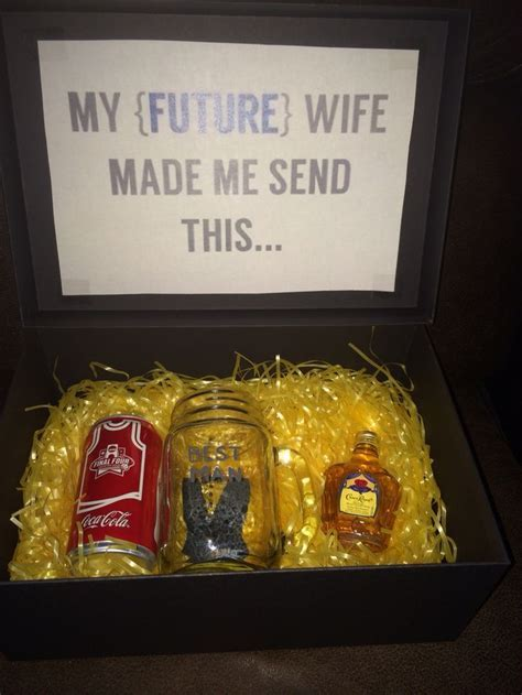 Will you be my best man? Crown and coke gift box.   Our