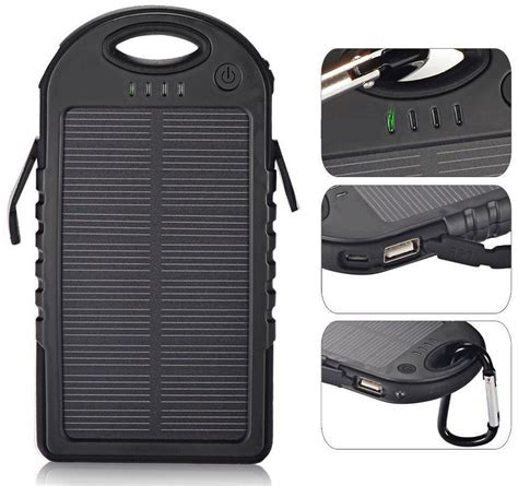 Power Bank Solar Terbaru survivor solar powerbank waterdicht shop geeektech
