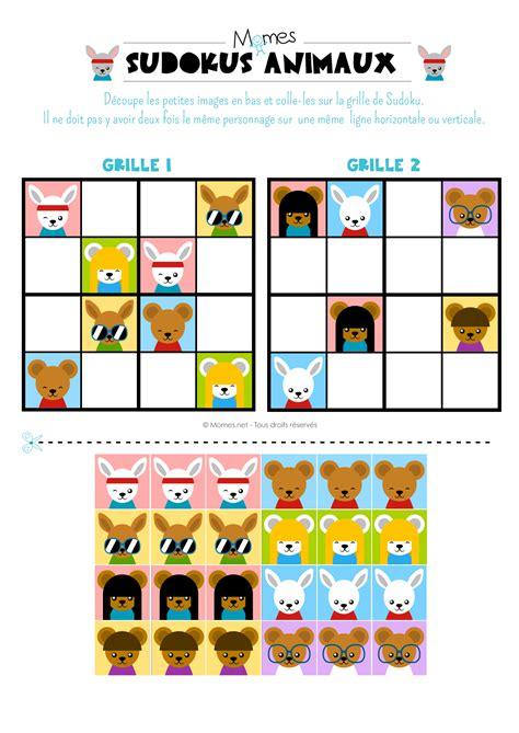 Grille De Sudoku Facile à Imprimer by Sudoku Animaux Momes Net