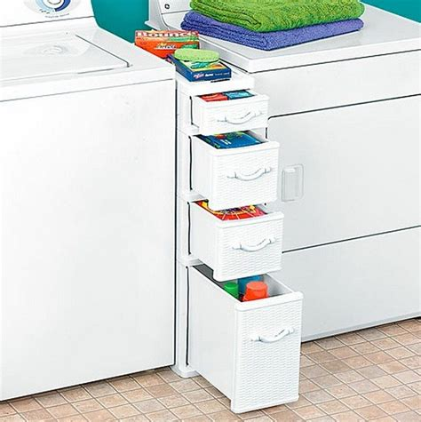 Laundry Room Storage Between Washer And Dryer Clever Laundry Room Storage Solutions The Owner