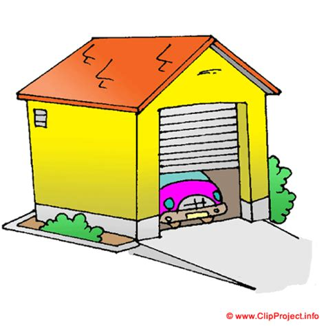 Garage Door Clipart The Cat A Garage And The Car
