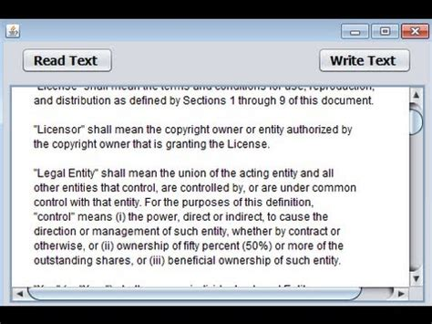 java swing display text java prog 134 how to read an entire text file and display