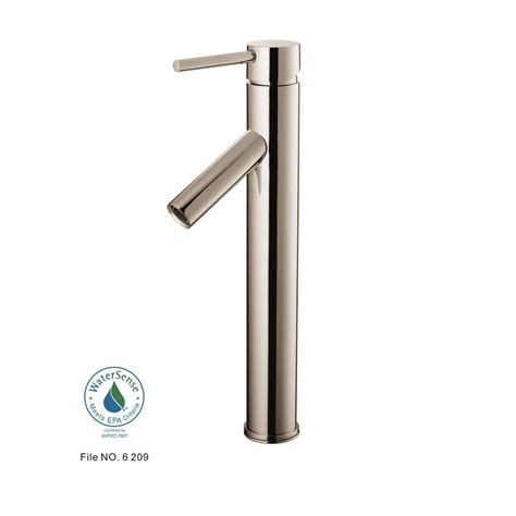 brushed nickel bathroom pfister ashfield single hole single handle vessel bathroom