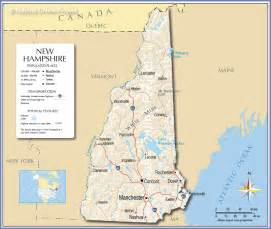 Nh State Map by Reference Map Of New Hampshire Usa Nations Online Project