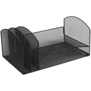 Black Wire Mesh Desk Accessories Staples 174 Black Wire Mesh Desk Accessory Letter Tray Sorter Medicalartspress