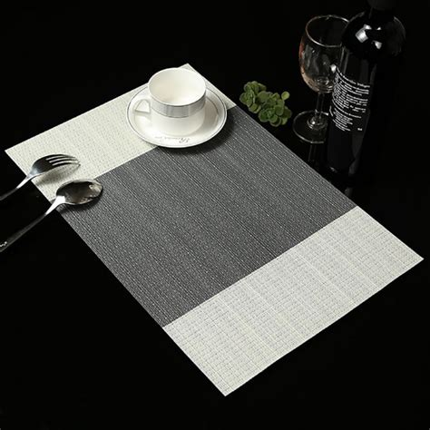 Dining Table Mat 6pcs Set Pvc Insulation Bowl Tableware Placemats Place Mat Table Coasters Dining Ebay