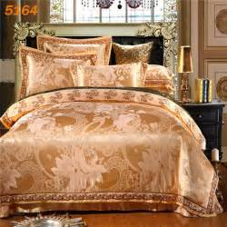 aliexpress buy 6pcs silk bedding sets camel