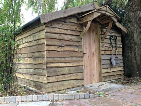 pallet shed extension  waney edge cladding unexpected