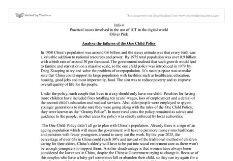 One Child Policy China Essay by One Child Policy Research Paper 28 Images Child Labor Research Paper Outline South Florida