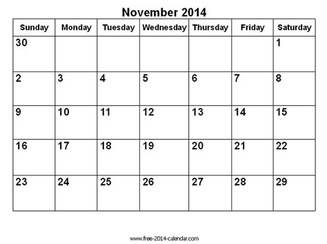 blank calendar template november 2014 image gallery november 2014 calendar