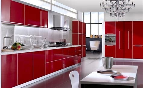 Cherry Red Kitchen Cabinets by Create Stunning Space With Red Kitchen Cabinets My