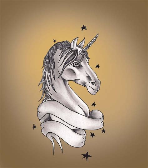 unicorn tattoo design by hausofch on deviantart