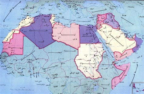 Map Of The Arab World by Invisible Dog The Rules Of The Arab World
