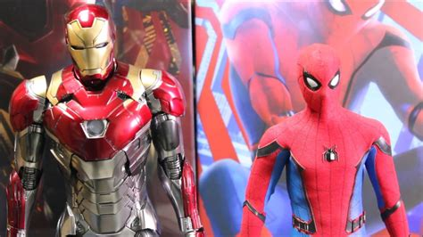 unboxinghot toys spider man homecoming iron man