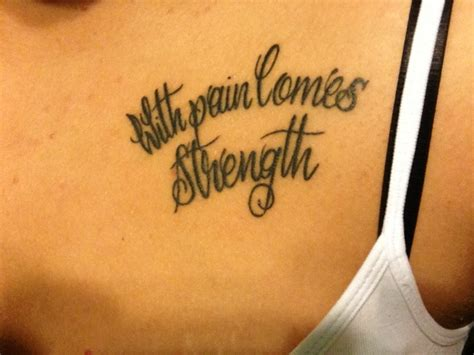 tattoo quotes for pain with pain comes strength quotes quotesgram