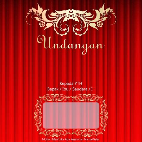 template undangan pernikahan cdr file gratis