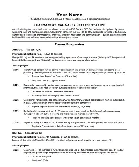Resume Sles Description Free Resume Template For Sales Representative Rep Cv Pharmaceutical