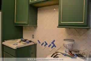 how to install a ceramic tile backsplash above a kitchen