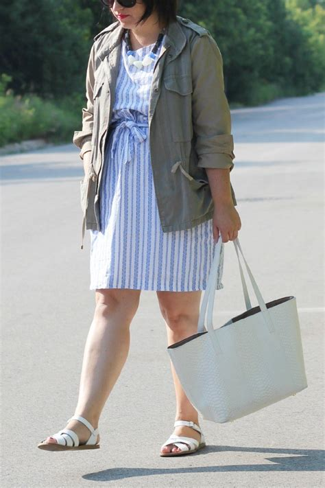 Striped Army Look Dress army jacket style chic everywhere