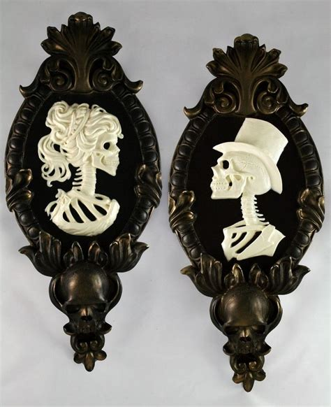 Victorian Inspired Home Decor by Gold Black And Skulls For Your Bathroom This Halloween