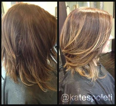 ombre balayage color melt blonde highlights long bob 74 best images about hair by kate spoleti on pinterest