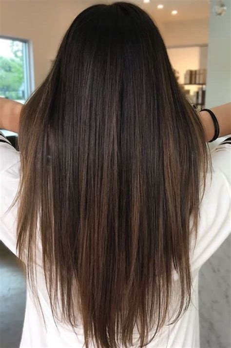 hairstyles for long straight hair with highlights brunette balayage straight hair brown highlights