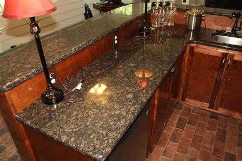 Granite Top Bar Table by Bar With Granite Counter Top Medium Size Traditional