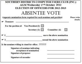 proxy voting form template absentee form sdcuci southern districts computer users