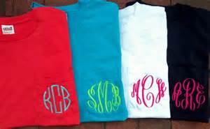 Personalized monogrammed pocket tshirt tee t by southernmonograms