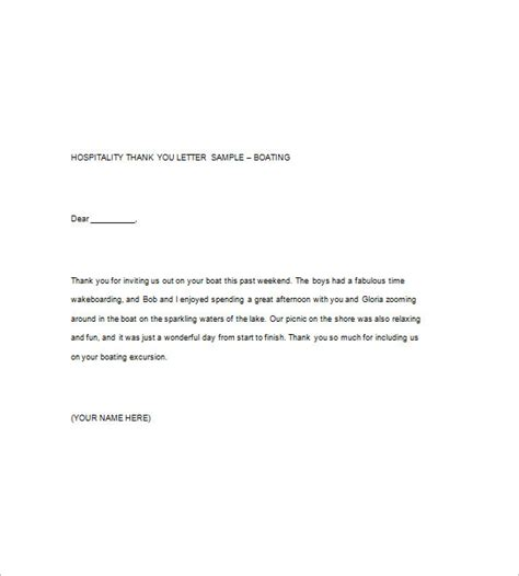 Thank You Letter Template Hospitality 9 Sle Thank You Notes Free Sle Exle Format Free Premium Templates