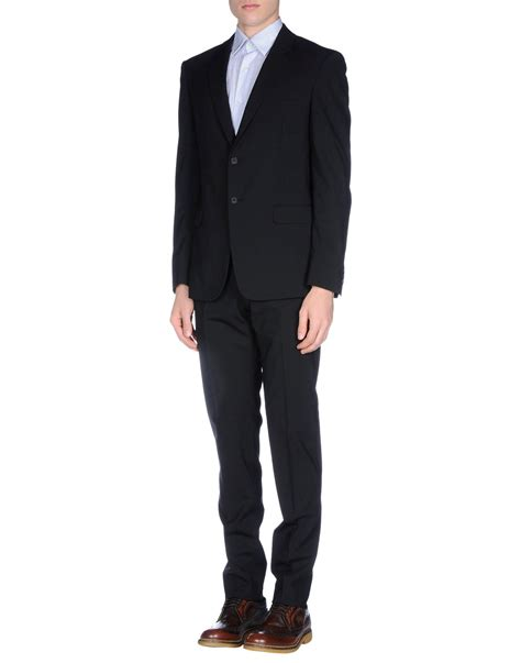 Overall Prada prada suit in black for lyst