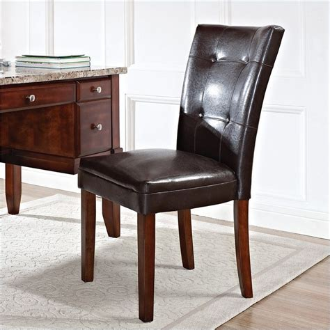 montibello parsons dining chair  brown parsons dining