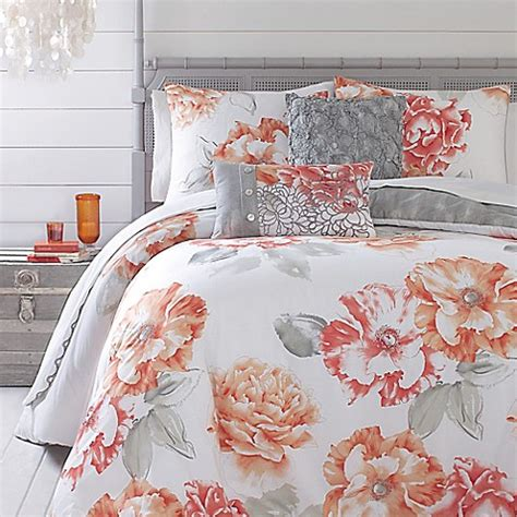 peony bedding jessica simpson golden peony comforter set bed bath beyond