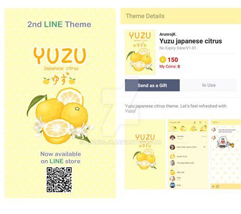 theme line japan exclusive line theme yuzu japanese citrus by arunrojk on deviantart