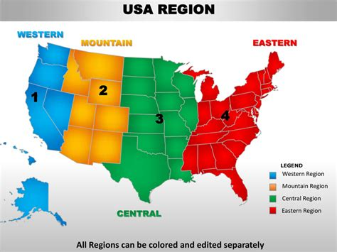 editable map of us states usa mountain region country editable powerpoint maps with