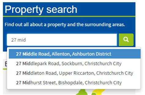 property search canterbury maps