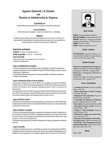 Modelo Curriculum Londres Cv En Espagnol Exemple De Cv Espagnol