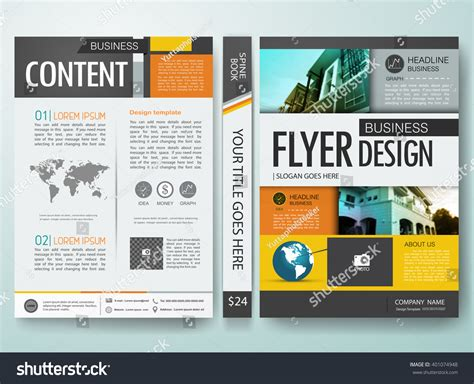 modern layout magazine europe modern flyers magazine cover annual report stock vector