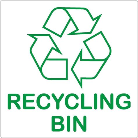 L Recycling by Recycling Bin Sign 87x87mm Self Adhesive Sticker Recycle