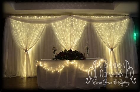 white backdrop with lights wedding event backdrop hire hertfordshire essex