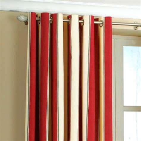 stripe curtains gatsby stripe panama eyelet lined curtains ebay