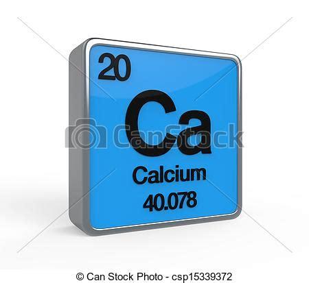 calcio tavola periodica calcio elemento tavola periodica render calcio