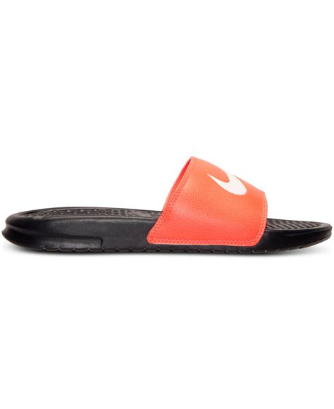 Nike Benassi Swoosh Nike nike s benassi swoosh slide sandals from finish line