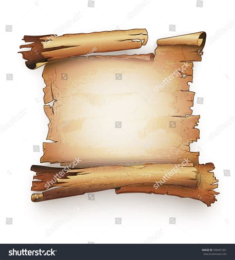 Paper Scroll Old Ancient Parchment Manuscript Stock Vector 596491361 Shutterstock Ancient Scroll Template