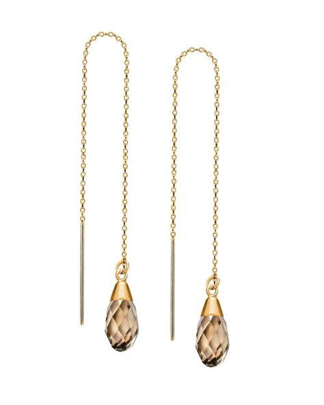 Threader Earrings golden threader earrings